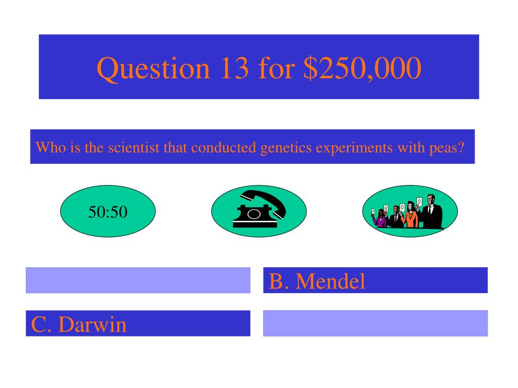 Question 13 for $250,000