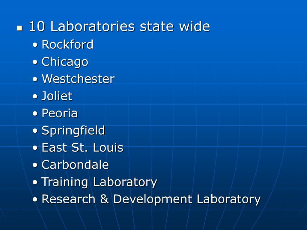10 Laboratories state wide