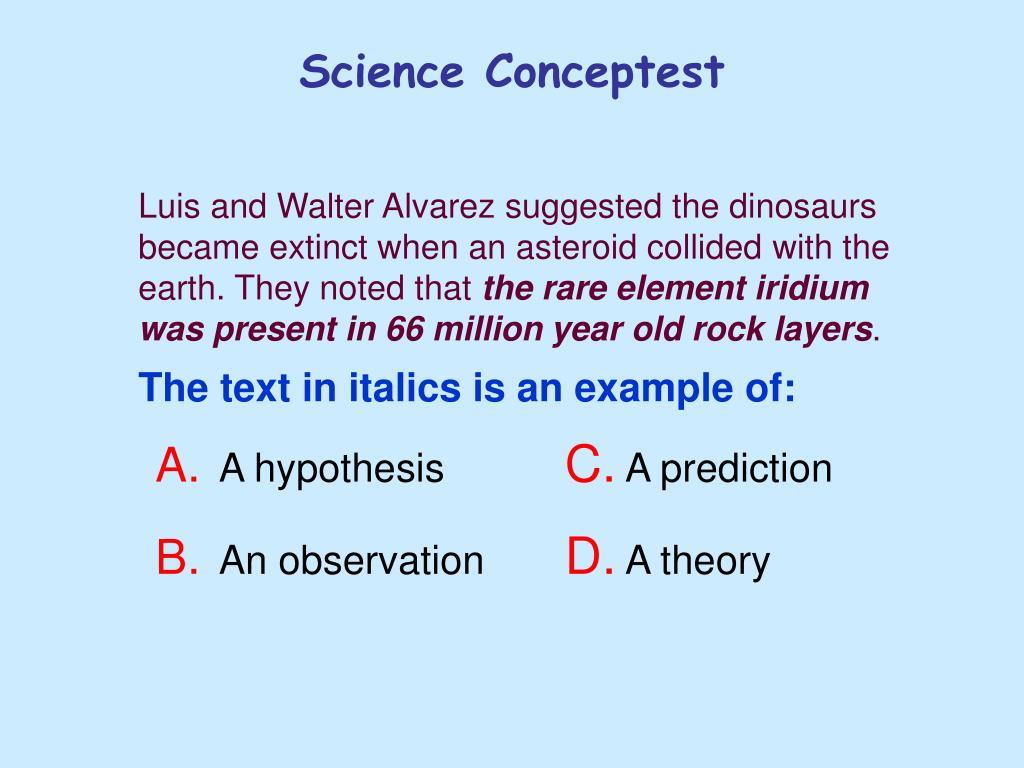 Science Conceptest