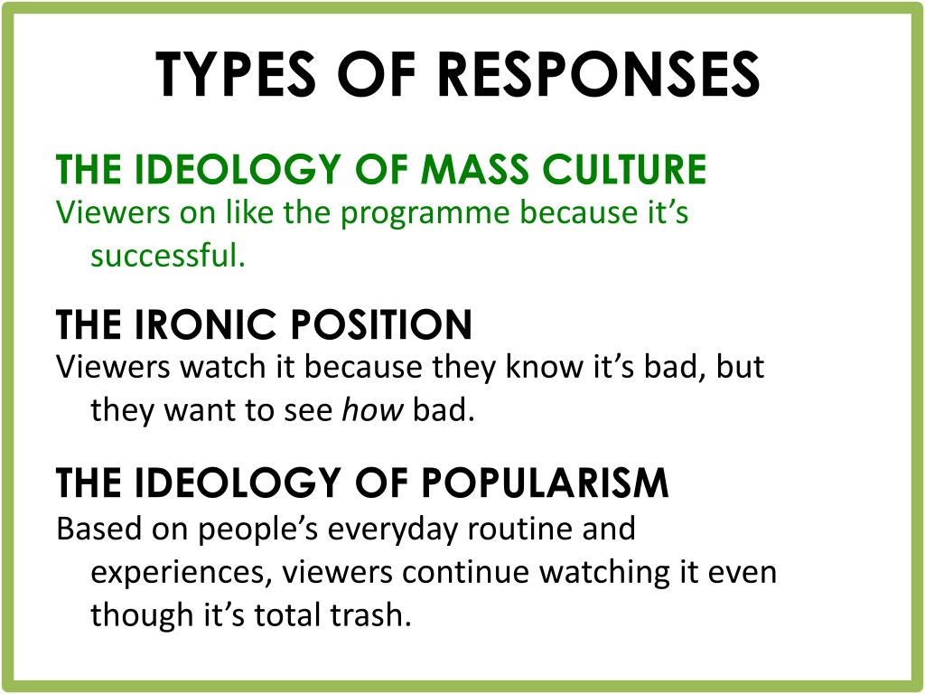 TYPES OF RESPONSES