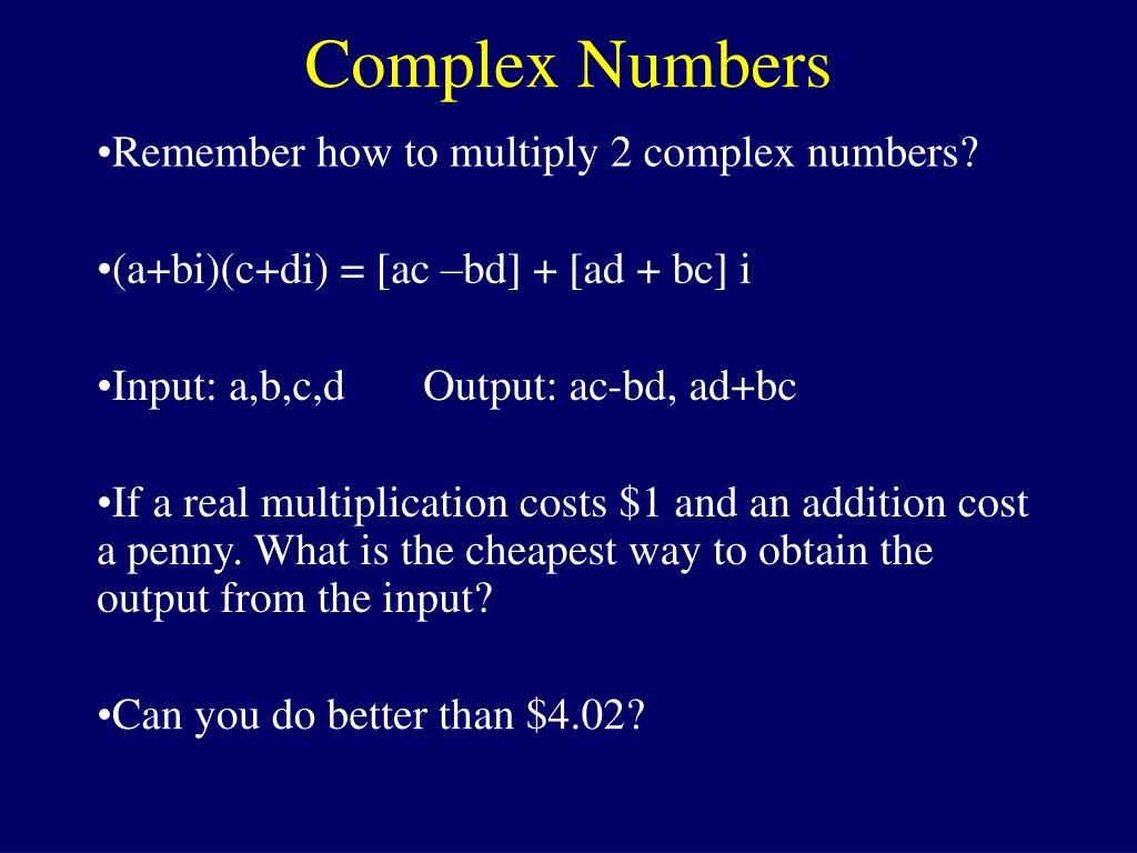 Complex Numbers