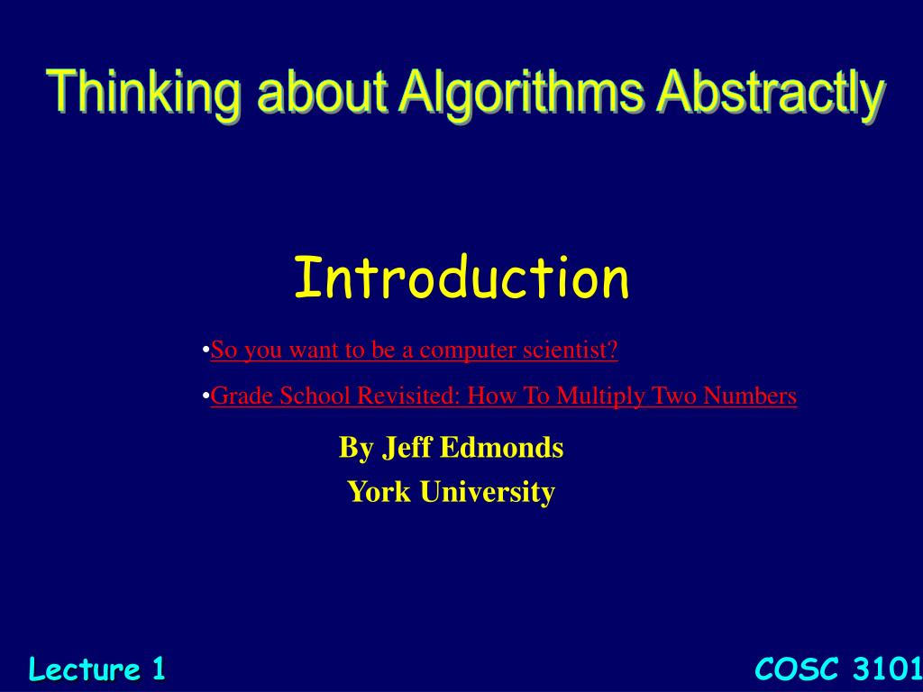 Thinking about Algorithms Abstractly