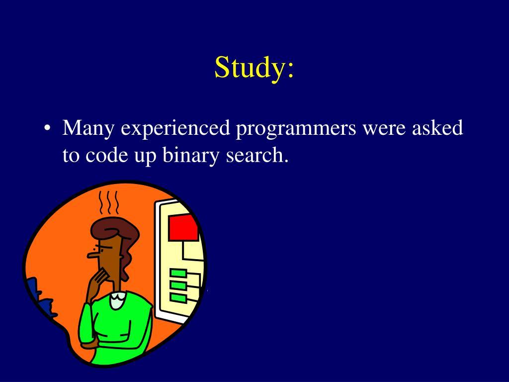 Study: