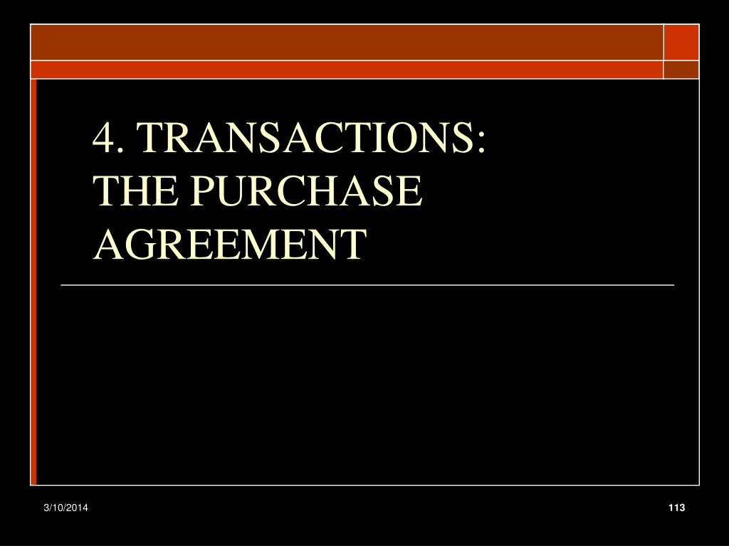 4. TRANSACTIONS: