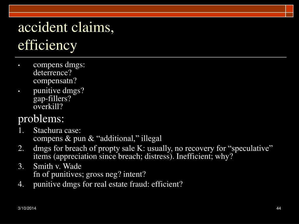accident claims,