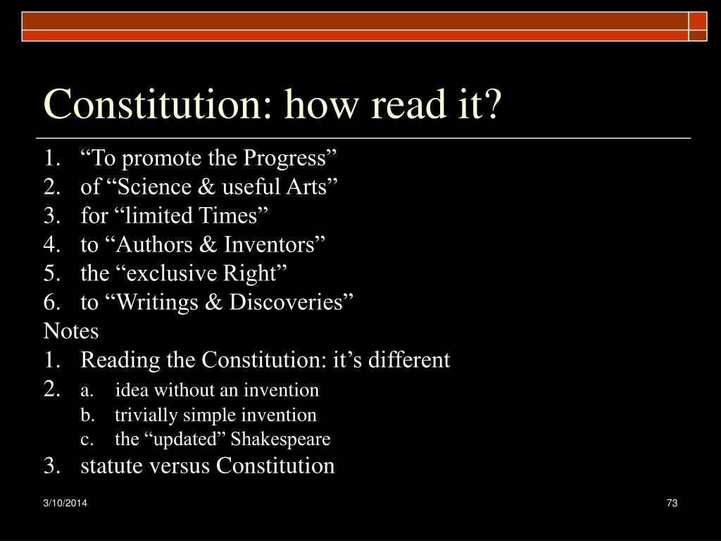 Constitution: how read it?