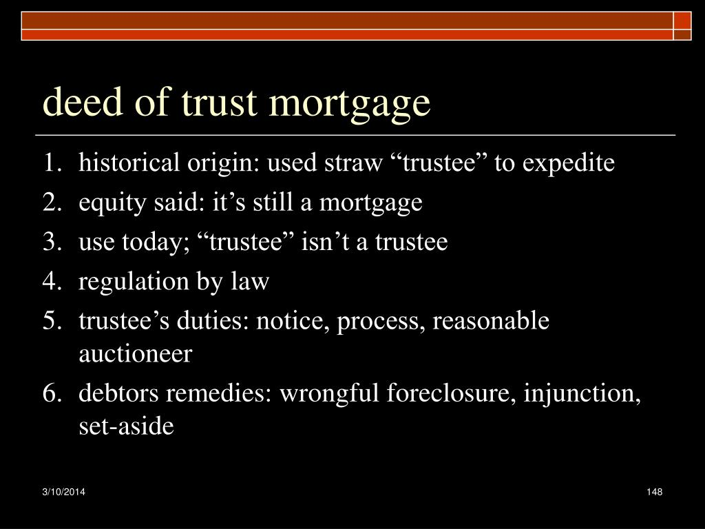 deed of trust mortgage