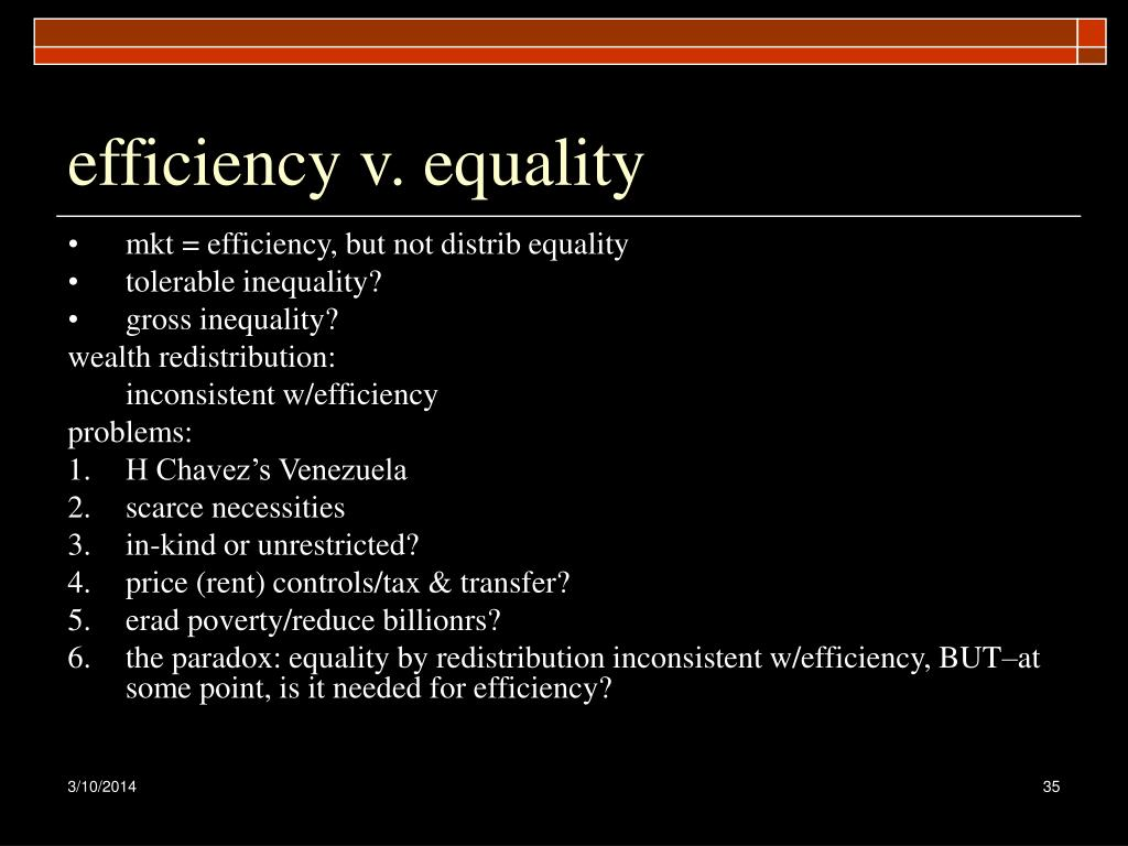 efficiency v. equality