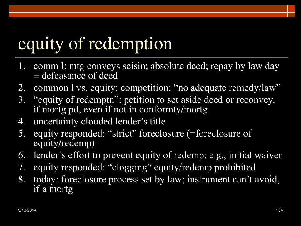 equity of redemption