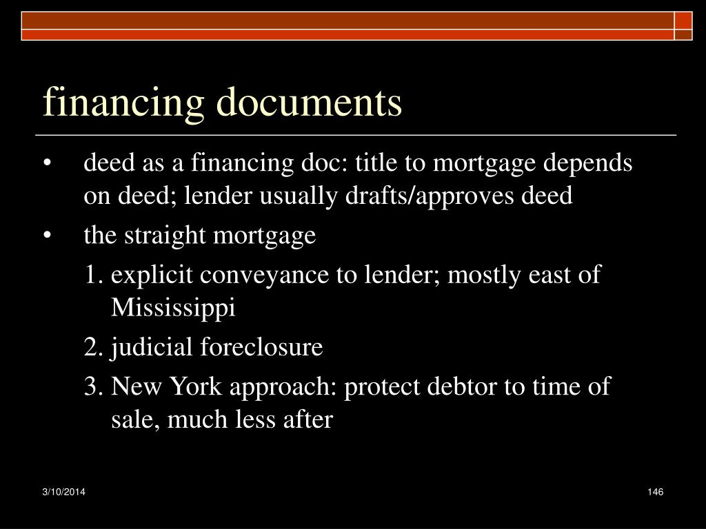financing documents