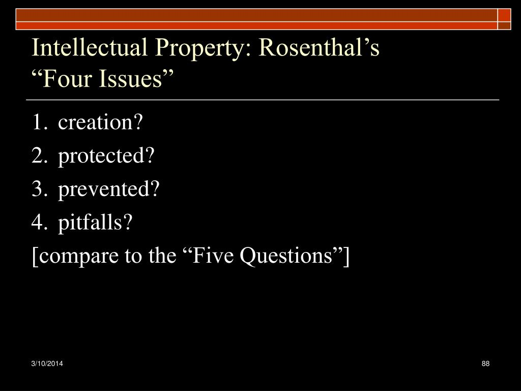 Intellectual Property: Rosenthal's