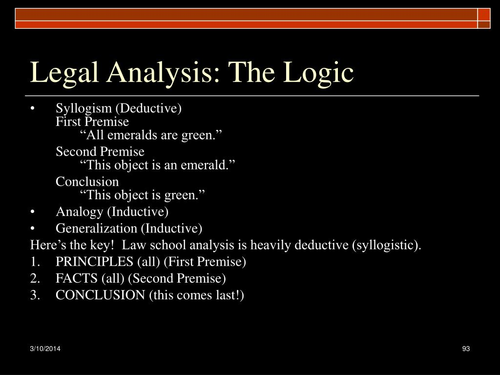 Legal Analysis: The Logic