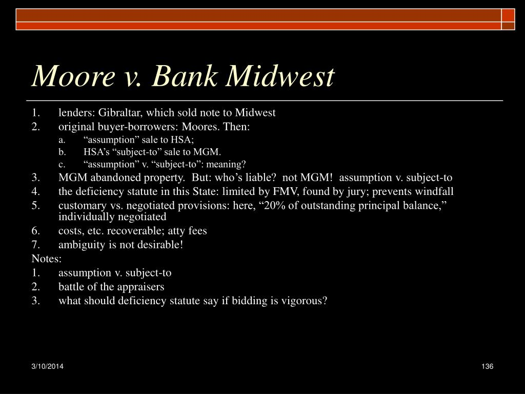 Moore v. Bank Midwest