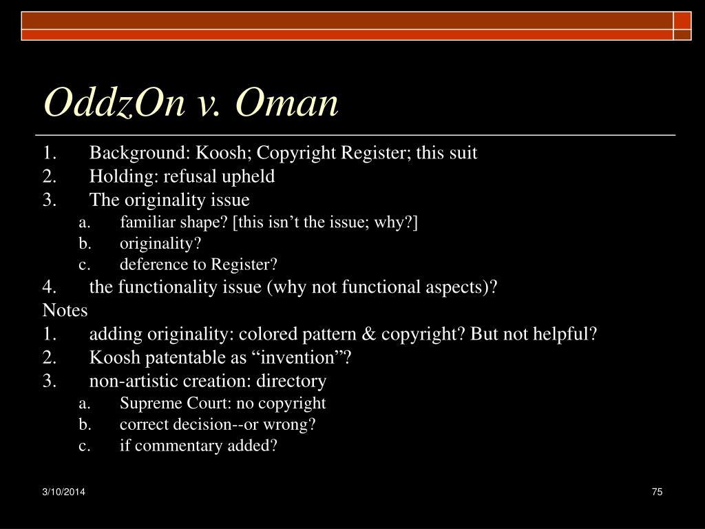 OddzOn v. Oman