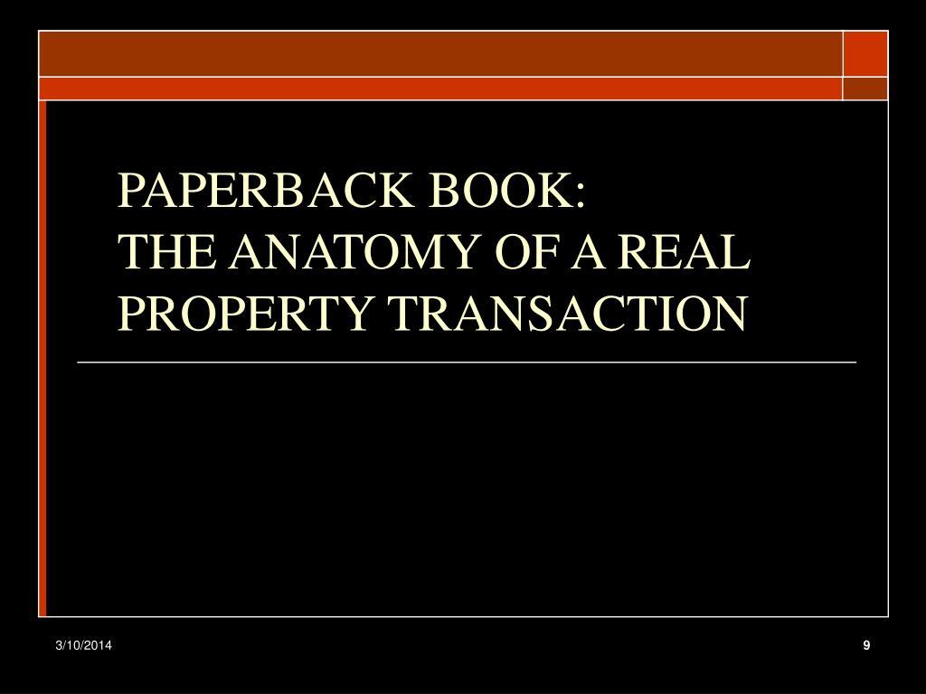 PAPERBACK BOOK: