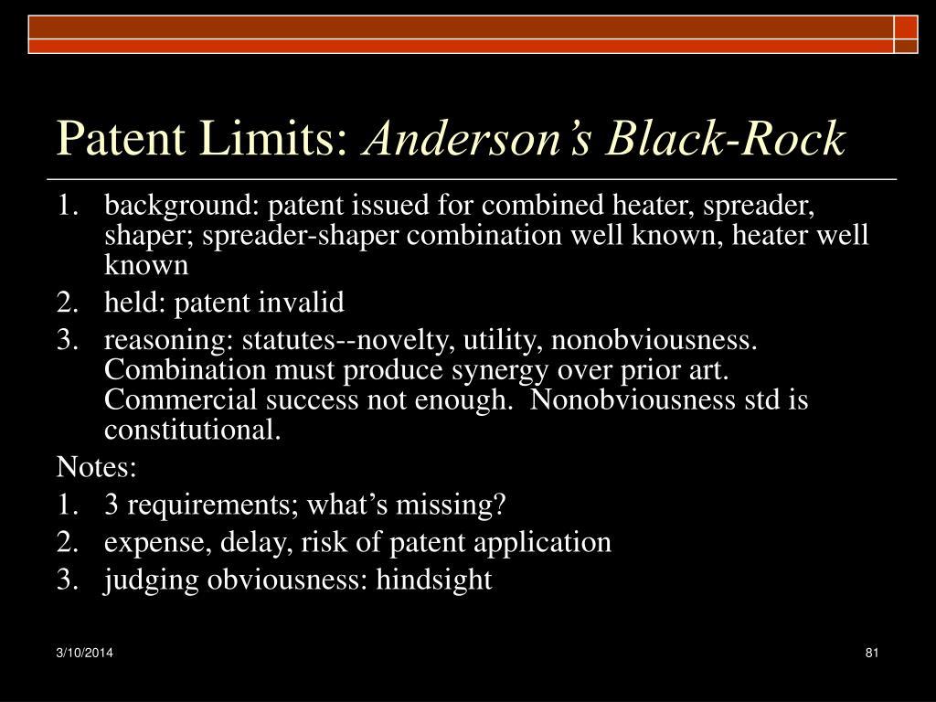 Patent Limits: