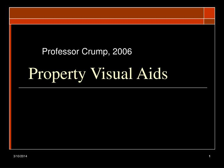 Property visual aids