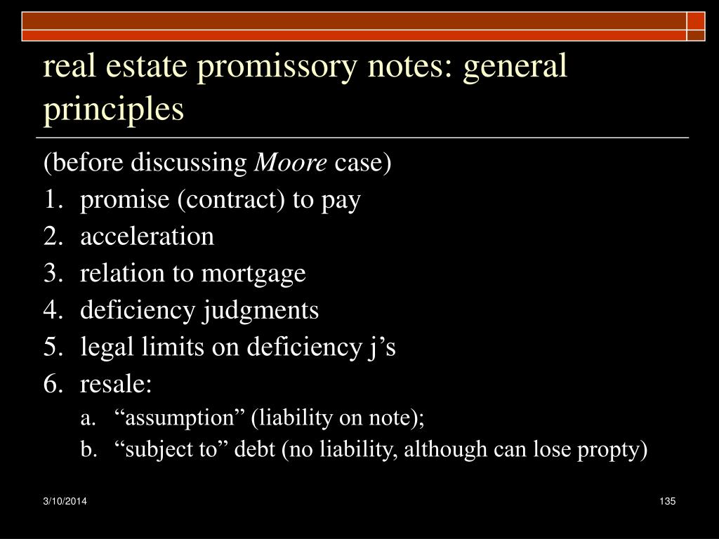 real estate promissory notes: general principles
