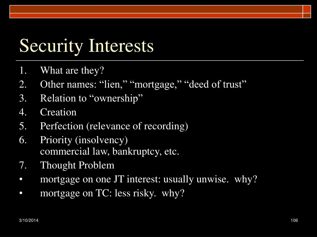 Security Interests