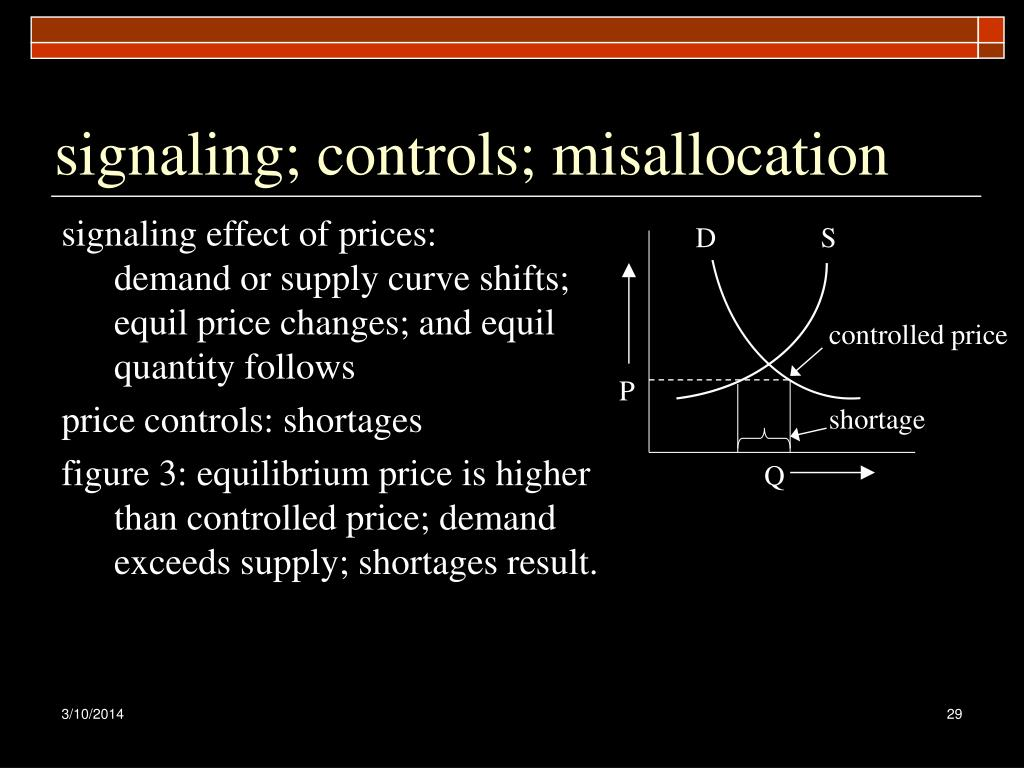 signaling; controls; misallocation