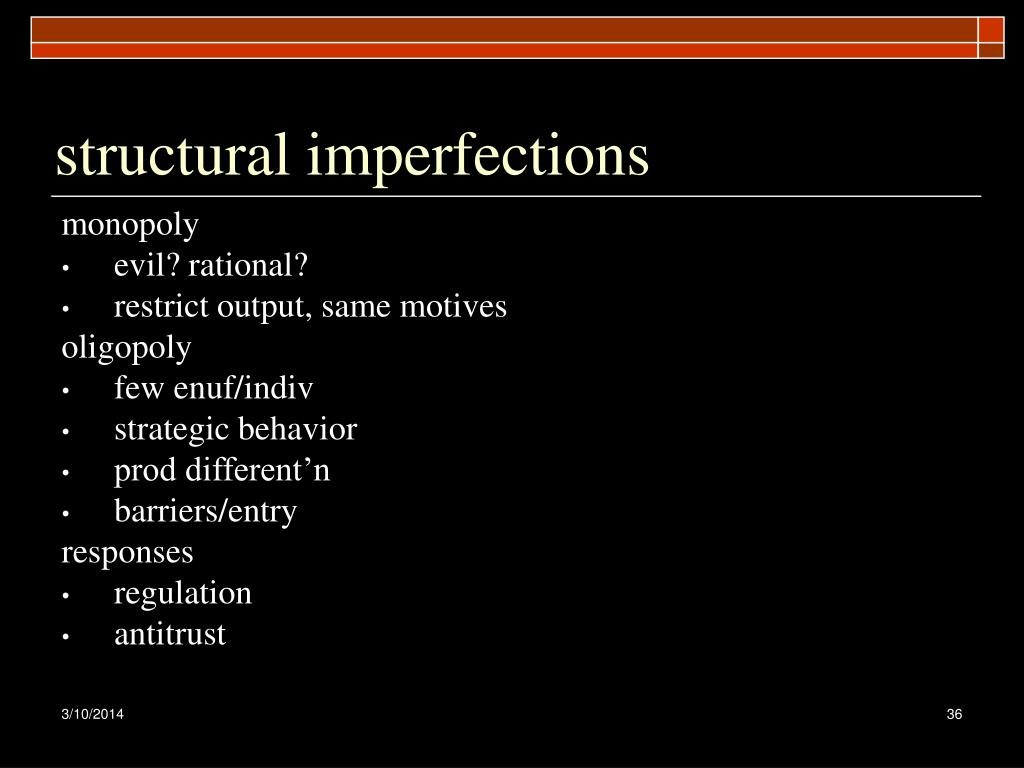 structural imperfections