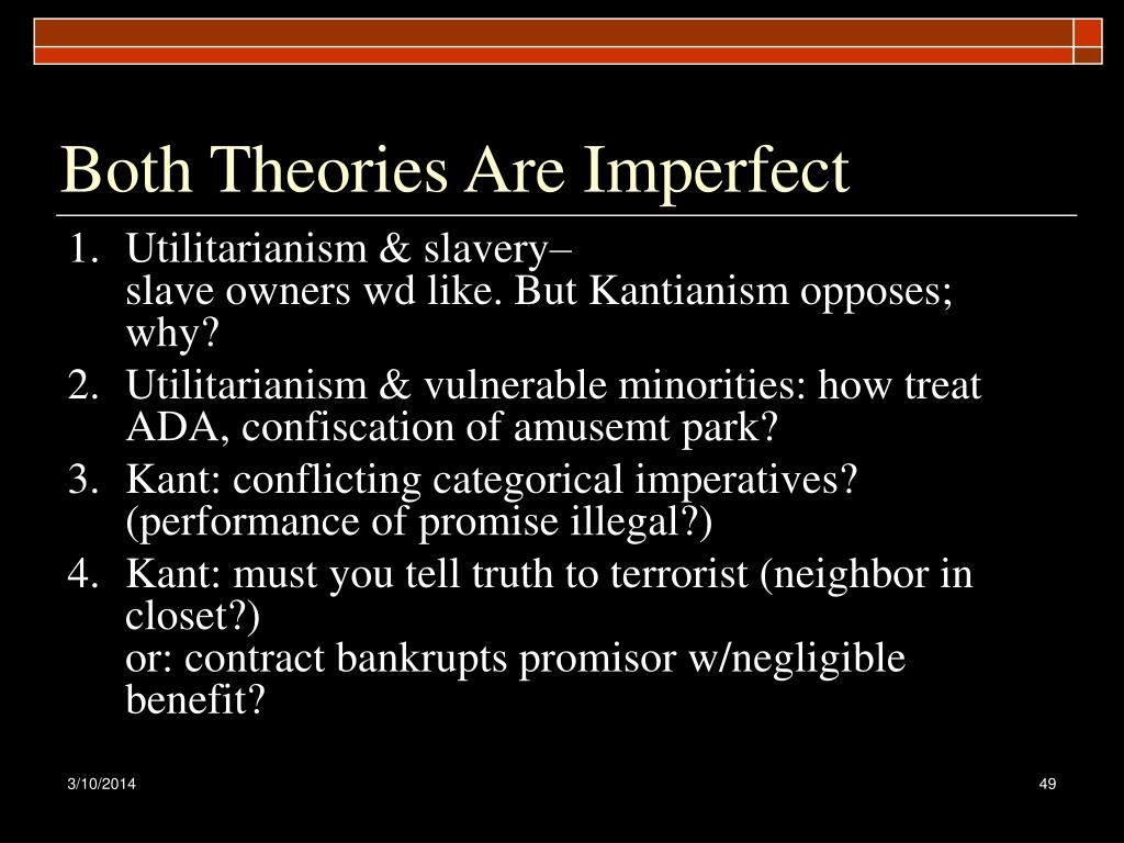 Both Theories Are Imperfect