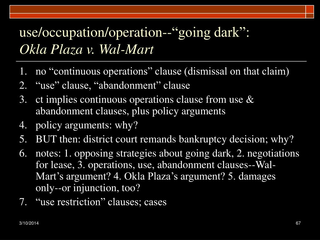 "use/occupation/operation--""going dark"":"
