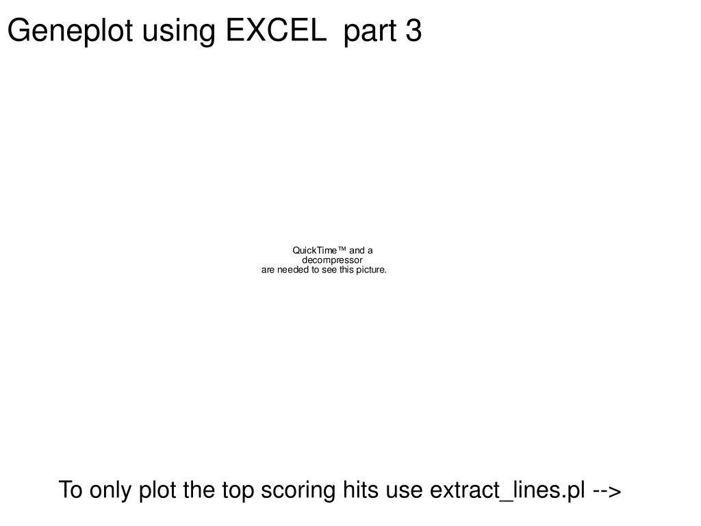 Geneplot using EXCEL  part 3