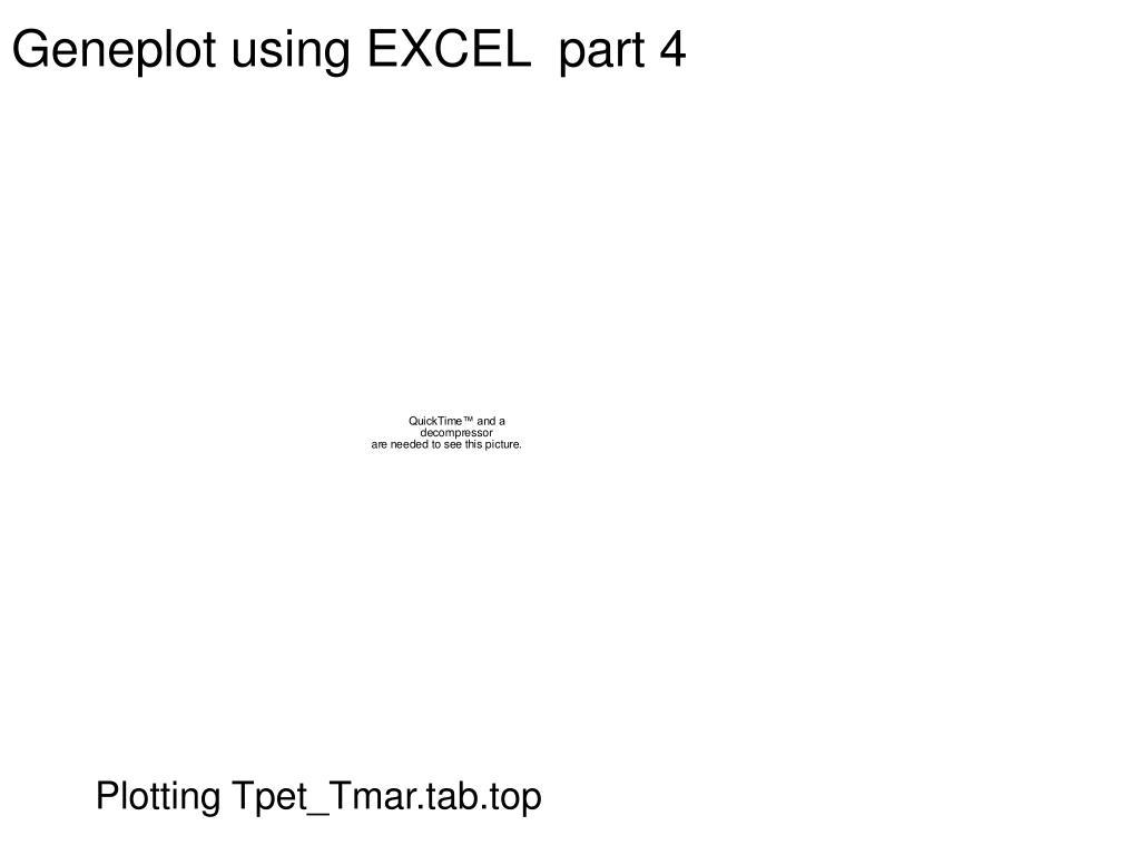 Geneplot using EXCEL  part 4