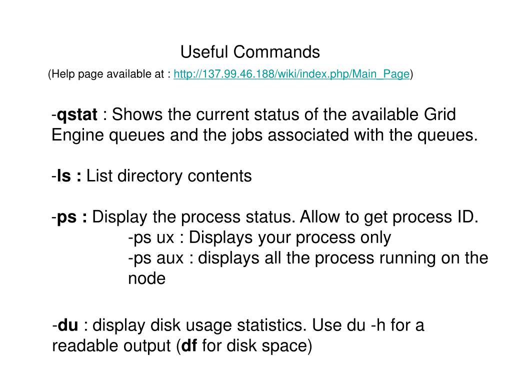 Useful Commands