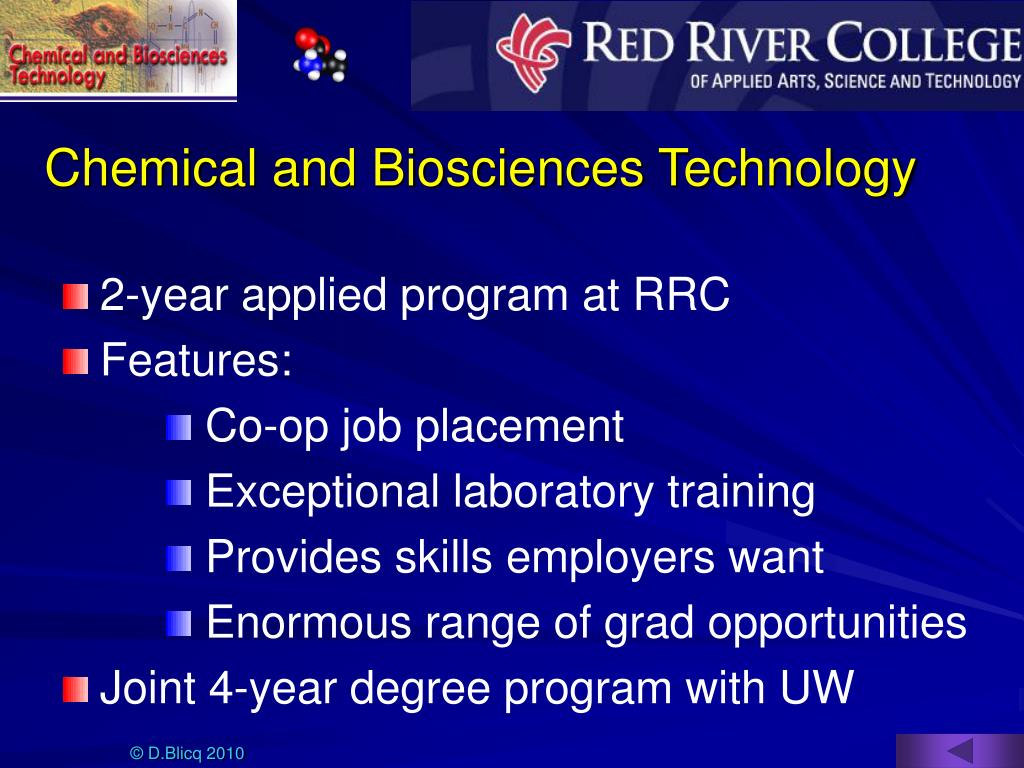 Chemical and Biosciences Technology