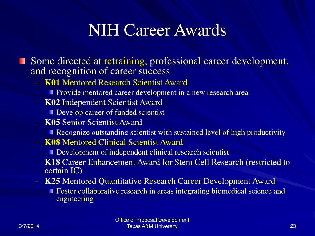 NIH Career Awards