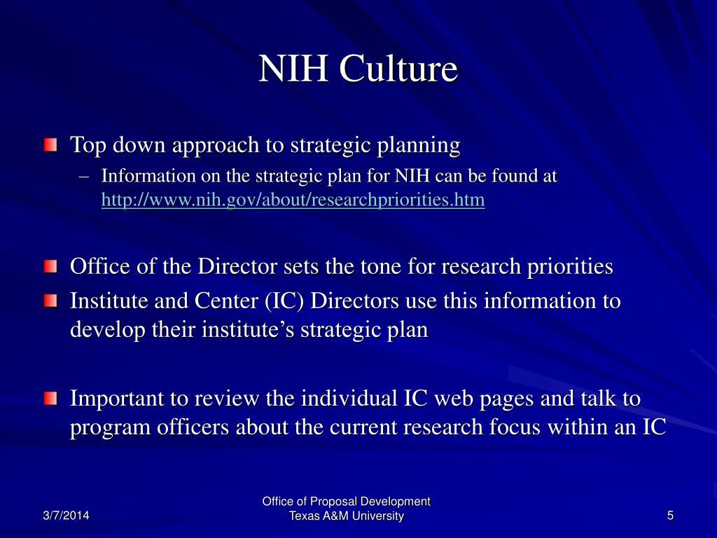 NIH Culture