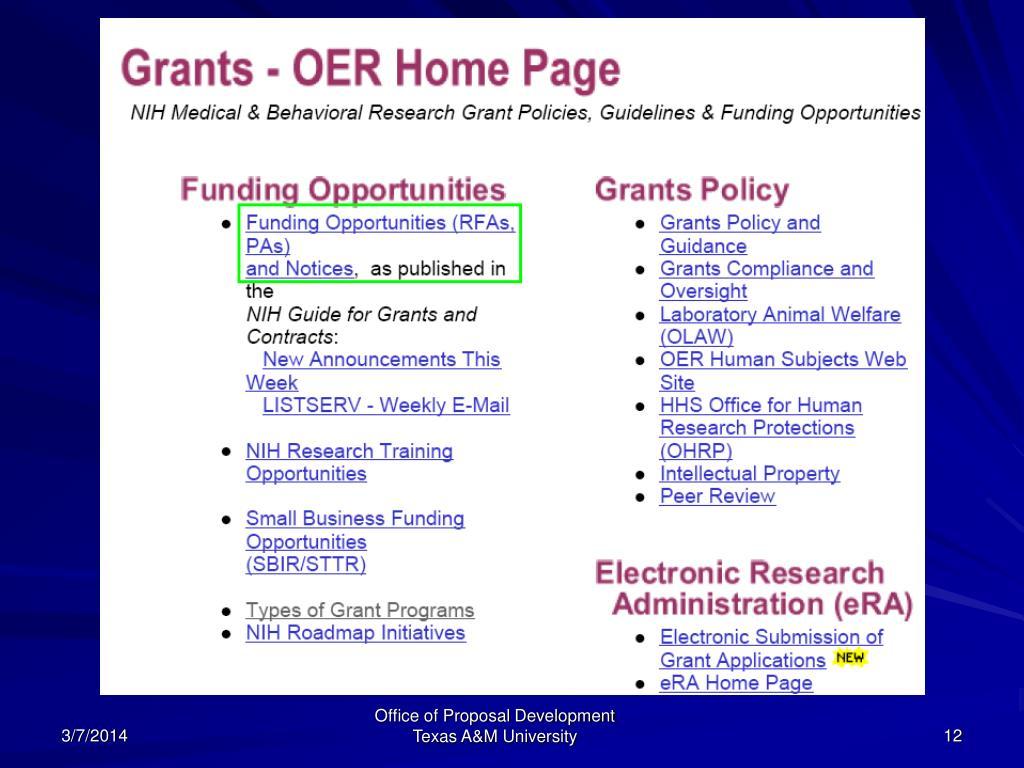 Office of Proposal Development  Texas A&M University