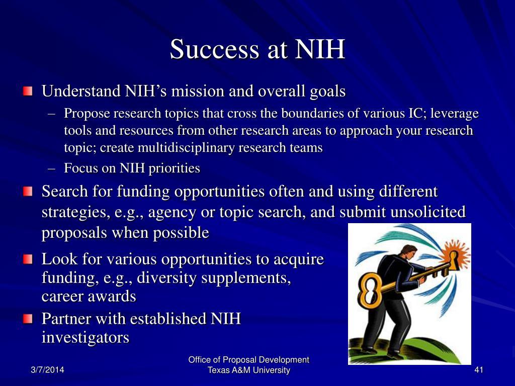 Success at NIH