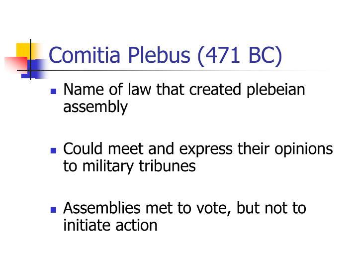Comitia Plebus (471 BC)