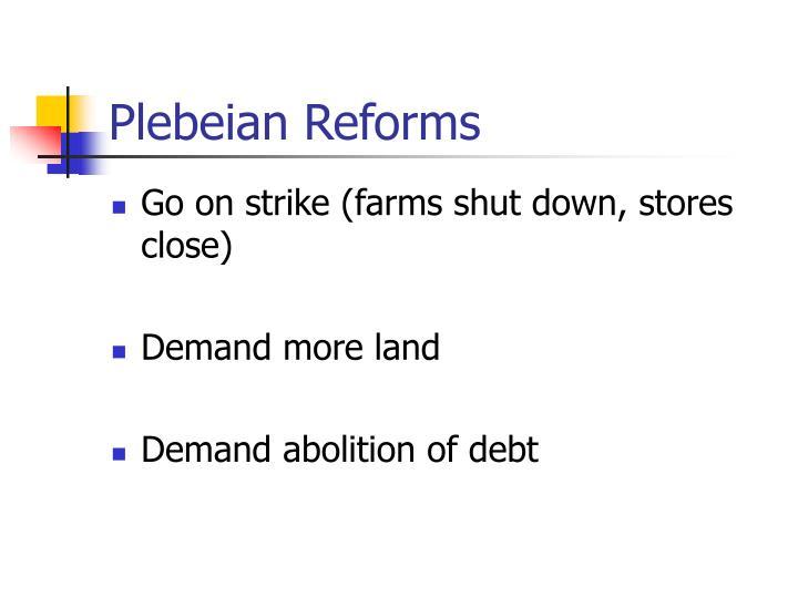 Plebeian Reforms