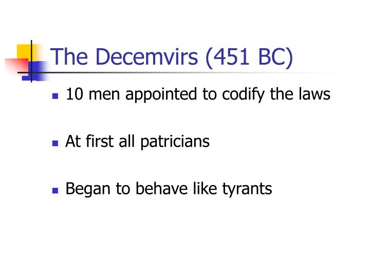 The Decemvirs (451 BC)