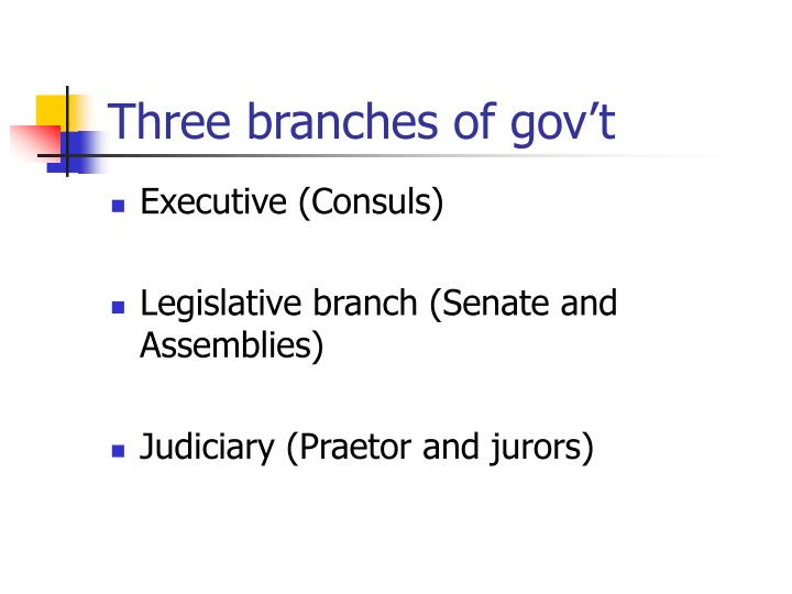 Three branches of gov't