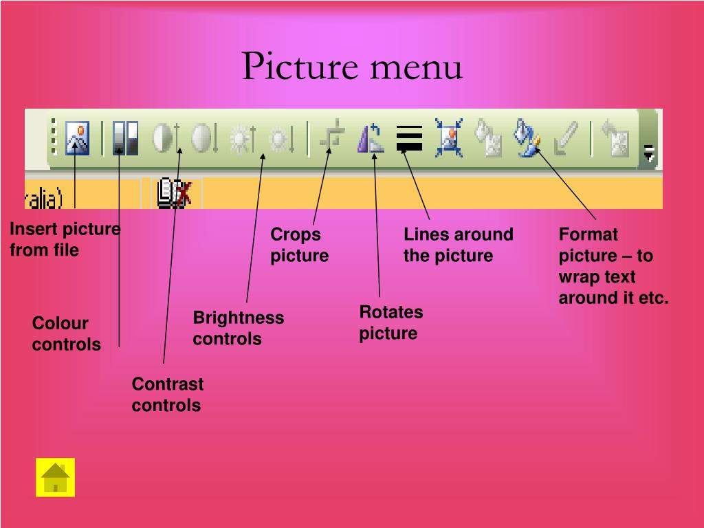 Picture menu