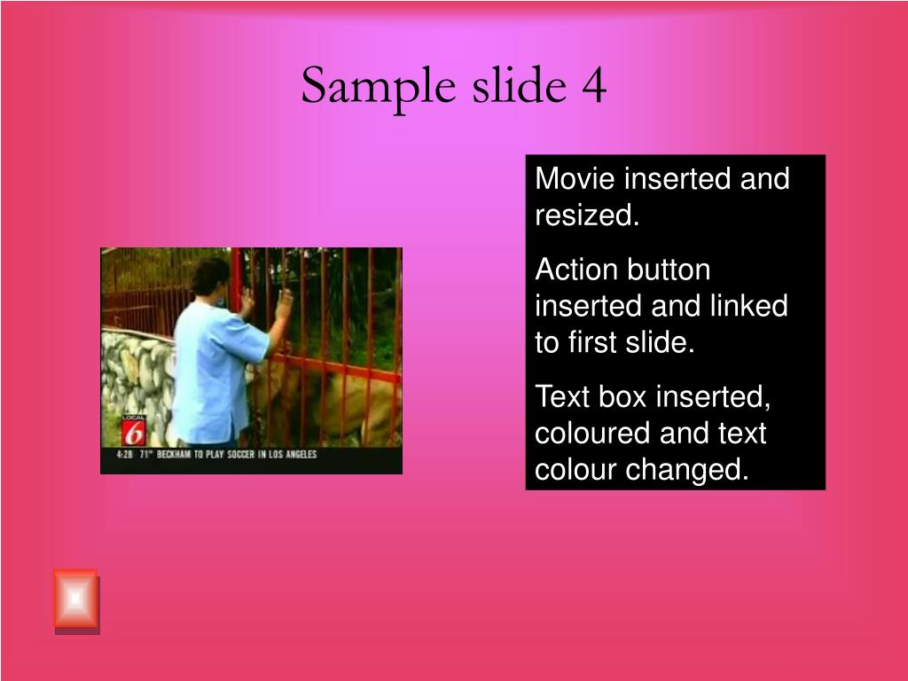 Sample slide 4