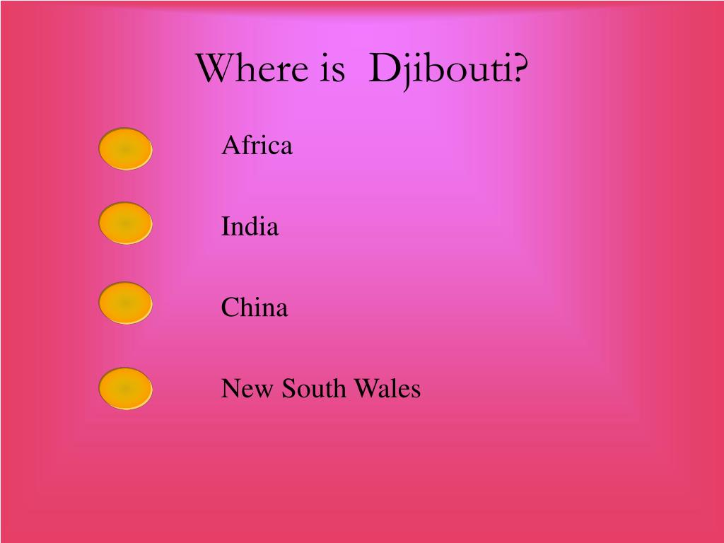 Where is  Djibouti?