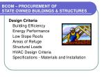 bcom procurement of state owned buildings structures26
