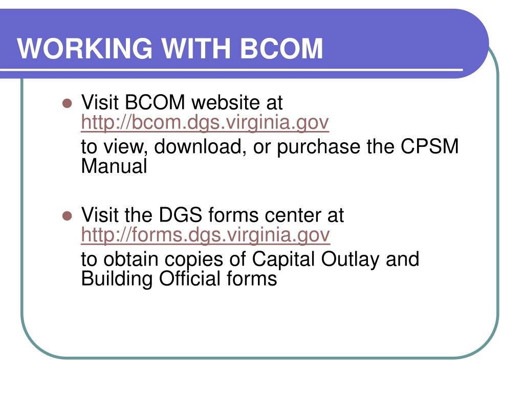 WORKING WITH BCOM