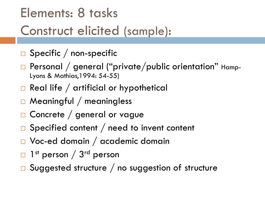 Elements: 8 tasks