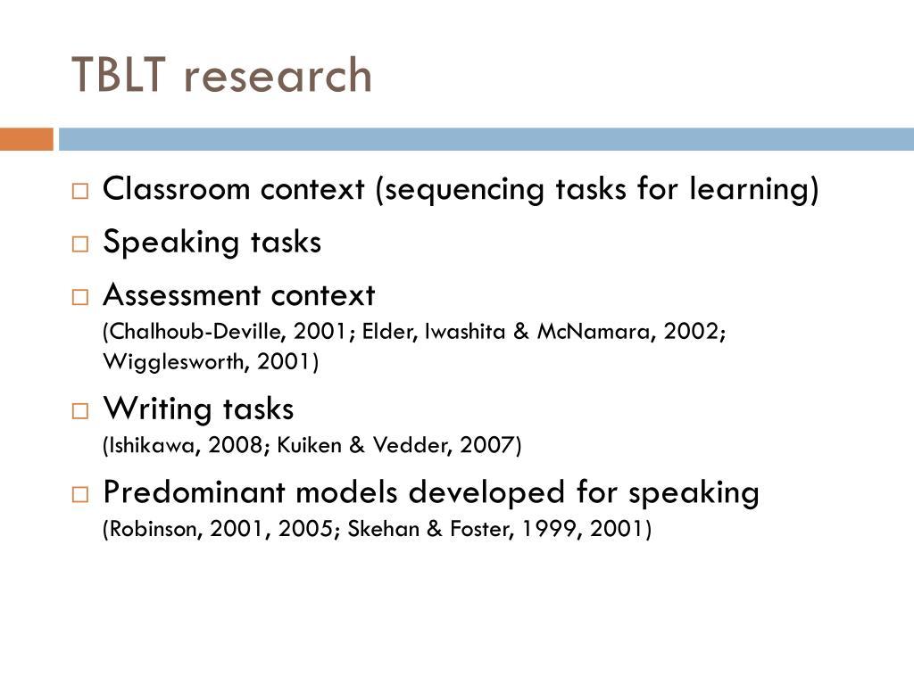 TBLT research