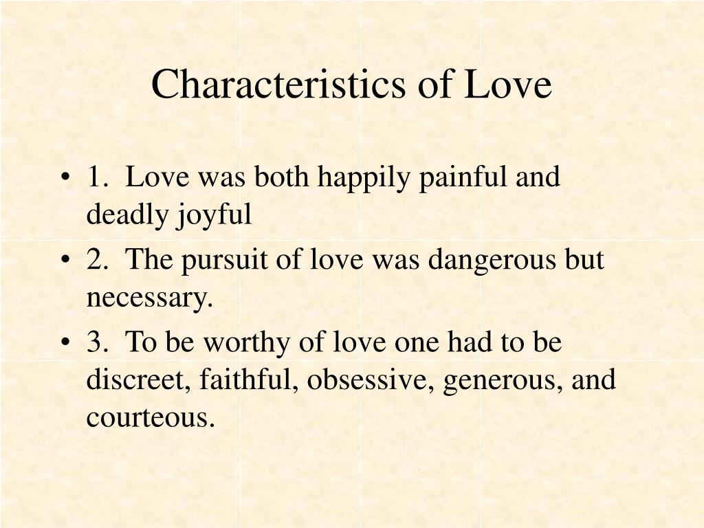 Characteristics of Love