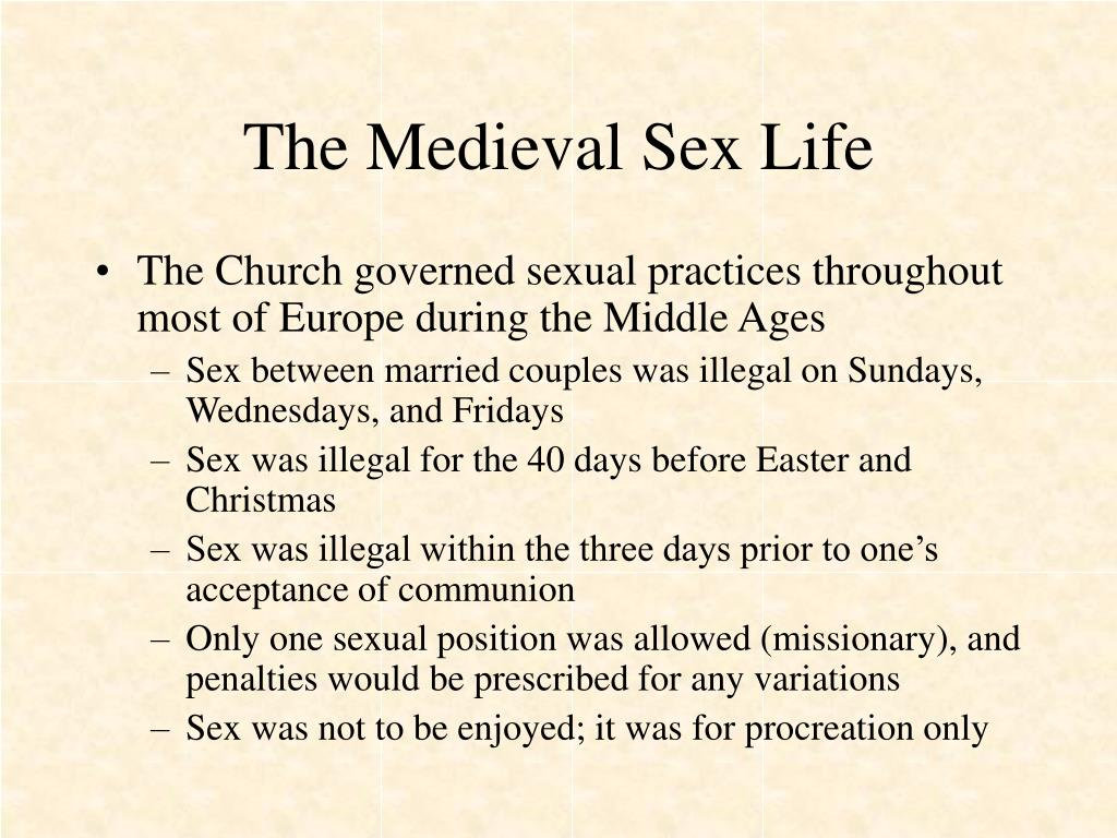 The Medieval Sex Life