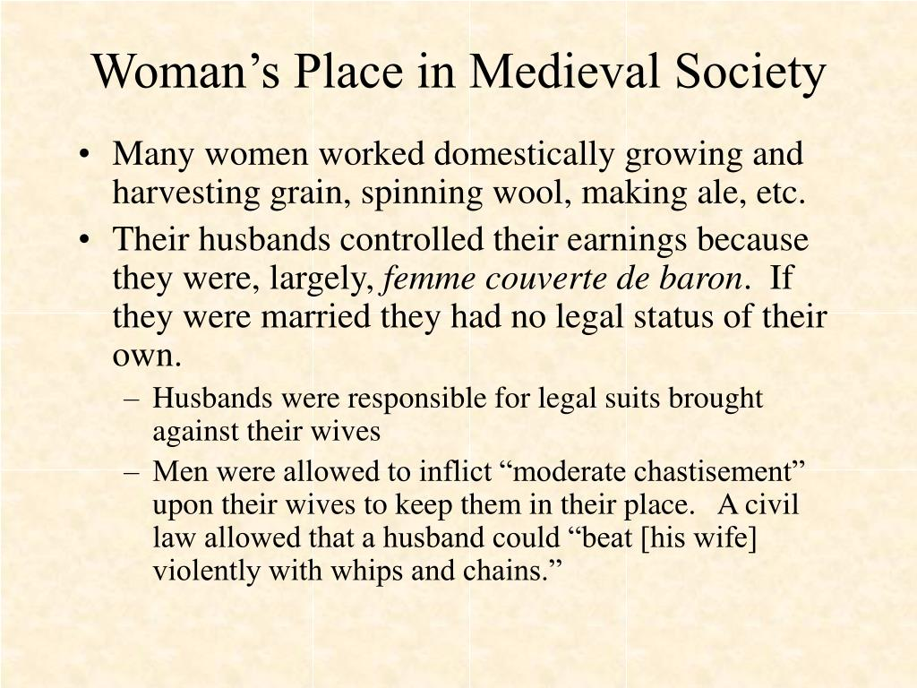 Woman's Place in Medieval Society