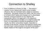 connection to shelley